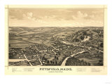 Pittsfield, Maine - Panoramic Map Posters by  Lantern Press