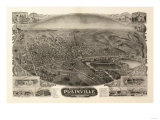 Plainville, Connecticut - Panoramic Map Print by  Lantern Press