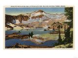 Wallowa National Forest, OR - Eagle Cap & Glacier Lake Print by  Lantern Press