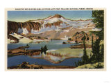Wallowa National Forest, OR - Eagle Cap & Glacier Lake Print