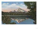 Mt. Hood, Oregon - View of Mountain from Lost Lake No.1 Print by  Lantern Press