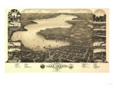 Lake Geneva, Wisconsin - Panoramic Map Print