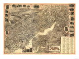 Norwalk, Connecticut - Panoramic Map Posters
