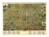 Lima, Ohio - Panoramic Map Posters by  Lantern Press