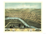 Mankato, Minnesota - Panoramic Map Posters