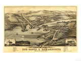 New Castle, Maine - Panoramic Map Posters by  Lantern Press