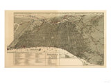 Philadelphia, Pennsylvania - Panoramic Map Posters by  Lantern Press
