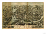 Norwalk, Connecticut - Panoramic Map Posters by  Lantern Press
