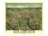 Paris, Kentucky - Panoramic Map Posters by  Lantern Press