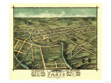 Paris, Kentucky - Panoramic Map Posters