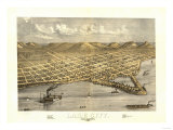 Lake City, Minnesota - Panoramic Map Posters
