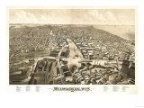 Milwaukee, Wisconsin - Panoramic Map Posters by  Lantern Press