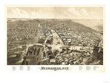 Milwaukee, Wisconsin - Panoramic Map Posters