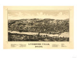 Livermore Falls, Maine - Panoramic Map Posters by  Lantern Press