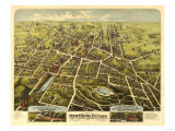 New Britain, Connecticut - Panoramic Map Poster by  Lantern Press