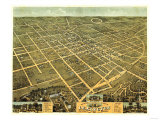 Lexington, Kentucky - Panoramic Map Poster