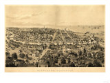 Milwaukee, Wisconsin - Panoramic Map Poster
