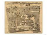 Mount Florence, New York - Panoramic Map Poster by  Lantern Press