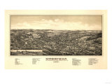 Merrimac, Massachusetts - Panoramic Map Poster by  Lantern Press