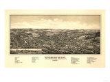 Merrimac, Massachusetts - Panoramic Map Poster