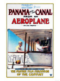 Panama - Panama and the Canal Aeroplane Movie Promo Poster Poster by  Lantern Press