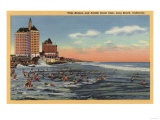 Long Beach, CA - Swimmers by Villa Riviera & Pacific Coast Club Poster by  Lantern Press
