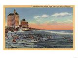 Long Beach, CA - Swimmers by Villa Riviera & Pacific Coast Club Poster