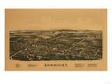 Rhinebeck, New York - Panoramic Map Poster
