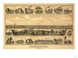 Norristown, Pennsylvania - Panoramic Map Poster