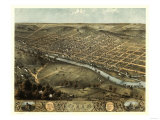 Peru, Indiana - Panoramic Map Poster autor Lantern Press