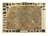 Morristown, New Jersey - Panoramic Map Print