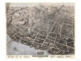 Poughkeepsie, New York - Panoramic Map Print