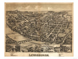 Lewisburg, Pennsylvania - Panoramic Map Print
