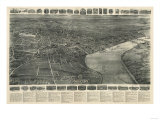 Middletown, Connecticut - Panoramic Map Posters