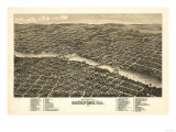 Rockford, Illinois - Panoramic Map Posters