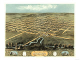 Marshalltown, Iowa - Panoramic Map Posters