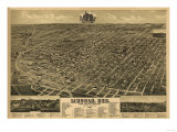 Lincoln, Nebraska - Panoramic Map Poster von  Lantern Press