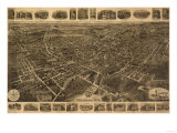 Middletown, New York - Panoramic Map Posters by  Lantern Press