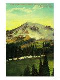 Camp of the Clouds, Paradise Park, Rainier - Rainier National Park Print