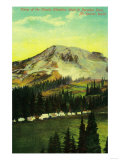 Camp of the Clouds, Paradise Park, Rainier - Rainier National Park Print by  Lantern Press