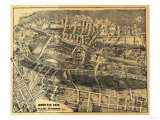Maplewood, New Jersey - Panoramic Map Posters