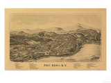 Port Henry, New York - Panoramic Map Posters by  Lantern Press