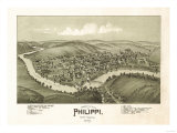 Philippi, West Virginia - Panoramic Map Posters by  Lantern Press