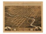 Pontiac, Illinois - Panoramic Map Posters