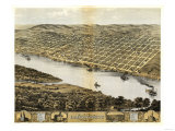 Leavenworth, Kansas - Panoramic Map Poster