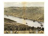 Leavenworth, Kansas - Panoramic Map Posters by  Lantern Press