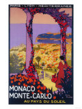 Monte Carlo, Monaco - Travel Promotional Poster Poster by  Lantern Press