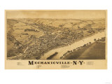 Mechanicville, New York - Panoramic Map Posters