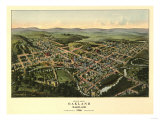 Oakland, Maryland - Panoramic Map Posters