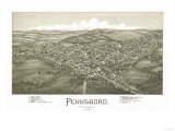 Pennsboro, West Virginia - Panoramic Map Posters